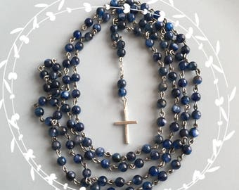Holy Blue Kyanite Rosary - Men's/Women's.