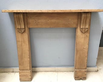Antique fireplace mantle in pitch pine