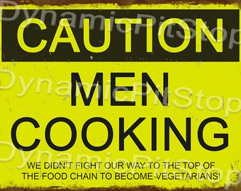 40x30cm Funny Men Cooking Rustic Tin Sign