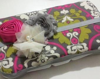Hot Pink, Lime Green, and Gray Dasmask Baby Wipe Case