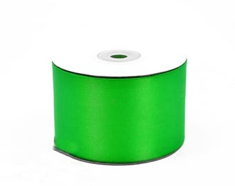 25 meters of 50 mm wide green satin ribbon Apple ref 555