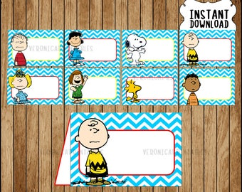 Peanuts Food labels instant download Snoopy party Food tent cards Printable Charlie Brown Tent  sc 1 st  Etsy & Snoopy tent | Etsy
