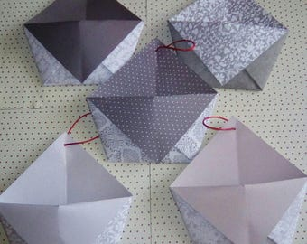 Set of 5 Christmas envelopes