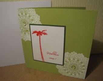 Greeting card ' drops green '