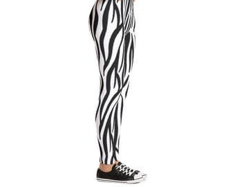 Yogi & Pie Wild Zebra Savanna Yoga Leggings