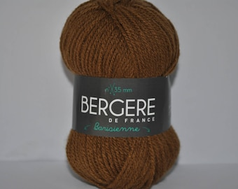 Pack of 10 balls of yarn, barisienne Bergère de france color spice Brown copper 297.911 29791