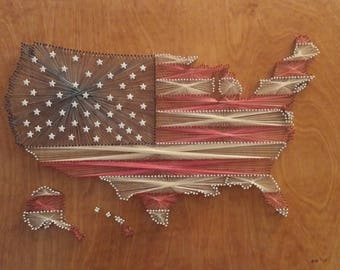 """Stars and Stripes (Stained) 24"""" x 16"""" (Or larger)"""
