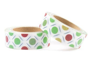 White washi tape with dots