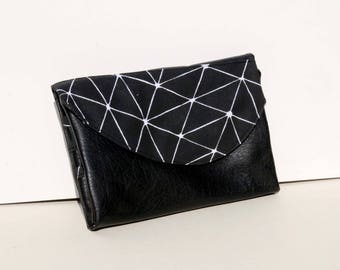 Shaped pouch flap wallet