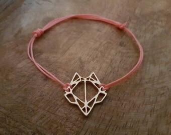 Bracelet Fox Origami Gold