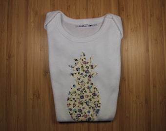 Bodysuit 12 pineapple motif