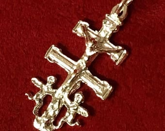 Cross of CARAVACA 27 Sterling Silver 925