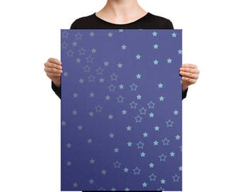 Blue Stars Canvas