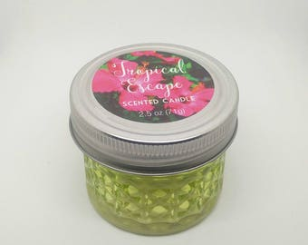 Handmade Tropical escape scented candle