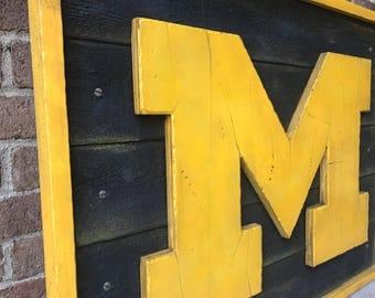 University Of Michigan Sign Etsy