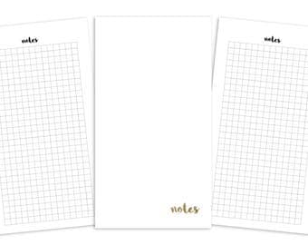 Personal Grid Pages Printable Insert - TN/Rings - Plain Cover