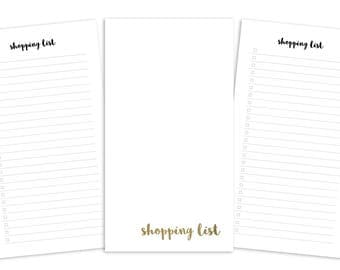 Personal Shopping List Printable Insert - Plain Cover - TN & Ring Planner
