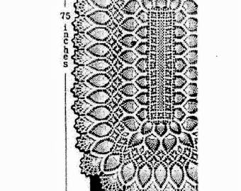 Crochet PDF Pattern Laura Wheeler Oblong Tablecloth