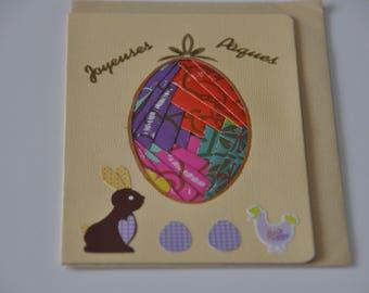 Easter egg irish folding card