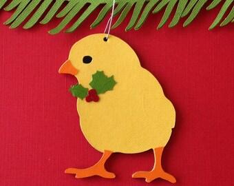 Chick Christmas tree ornament