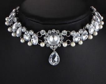 Necklace Choker dd Crystal Choker