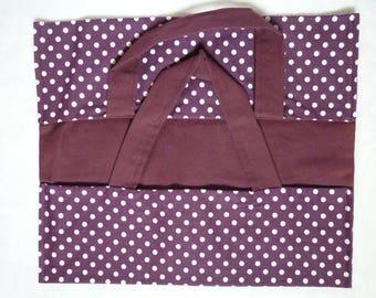 Bag pie purple cotton with white dots