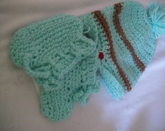 Baby Set of Hat and Booties sold out