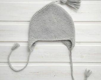 Newborn Hat Baby Hat Crochet Hat Infant Hat Crochet Baby Hat Knit Hat Baby Hat With Ears Photo Prop