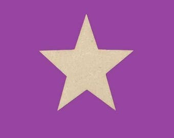 Support medium MDF Christmas 5 star blank branches