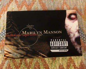 Vintage Marilyn Manson Cassette Tape. Antichrist Superstar.