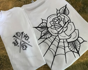 Rose & Web t-shirt