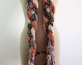 Hand woven wool scarf