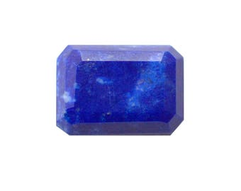 Lapis lazuli Natural Lapis lazuli Emerald Cut Stone Faceted Approx (7.40 cts Size 10x14 mm) Price per 1 piece (3961)