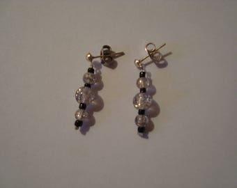Transparent black earrings