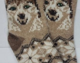 Averti 100% Angora Handcrafted Antibacterial Bed/Lounge Socks 140 Gram Size UK 8.5 - 10