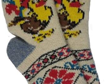 Averti 100% Angora Handcrafted Antibacterial Bed/Lounge Socks 120 Gram Size UK 7.5 - 9
