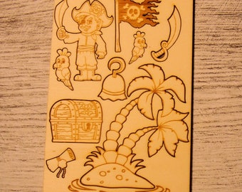 Board pirate 1185 embellishment wooden creations