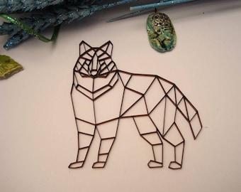Dog origami 02050 embellishment wooden creations