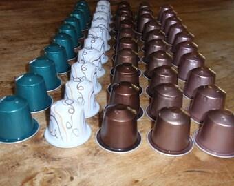 SET NO. 12 EMPTY NESPRESSO COFFEE CAPSULES AND CLEAN