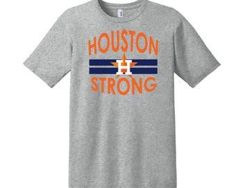 Houston Strong, Texas Strong, Houston Astros Baseball T-Shirt, Custom T-Shirt, Houston Astros, Baseball T-shirt, Houston