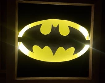 Light-up Batman shadowbox