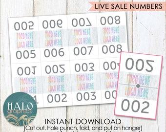 Live Sale Numbers - rustic wood, Printable, 1-200