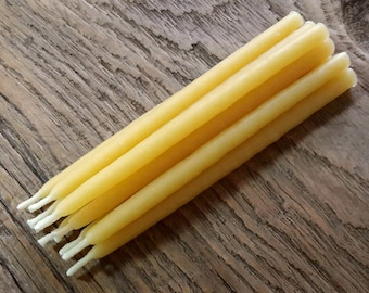 Beeswax Celebration Candles, Hand Dipped - 10 Pack