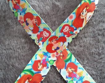 05 - Ribbon Mermaid - grosgrain - 22 mm sold by 50 CM - Mermaid ribbon