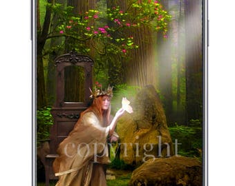 La Reine des fées fond d'écran pour ipod ou ordinateur création unique sur le thème féerique.