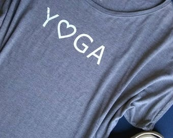 Yoga Love Dolman Short Sleeve Bamboo Organic Cotton Sustainable Eco-friendly Tunic T-Shirt