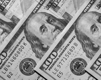 The Three Bens modern contemporary, Ben Franklin photo, Money Photography, Fine art, Poster, Print, Office art, Digital download