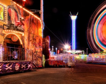 Carnival Photography, Amusement Park, Carnival Pirates photo, Panoramic photo, Fine art, Family fun, Print, Home decor, Digital download