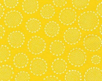 Blueberry Park Dalmation in Citrus Half Yard Cut - AWI-15749-134 - Karen Lewis - Robert Kaufman Fabric