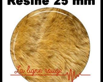Round cabochon resin 25 mm - craft fur (1139) - lion